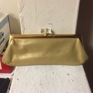 Lord & Taylor Bags - Vintage Lord & Taylor Gold Mini Bag with Lucite